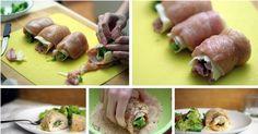 Pierś z kurczaka faszerowana szynką, brokułami i mozzarellą
