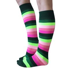 Funky and delicious watermelon striped socks that are knee high. Shop Chrissy's full line of striped knee highs. Over The Knee Boot Outfit, Knee High Boots, Winter Boots Outfits, Outfit Winter, Casual Skirt Outfits, Crazy Socks, Cute Socks, Striped Socks, Boot Socks