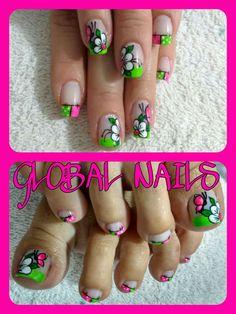 Toe Nail Art, Toe Nails, Acrylic Nails, Cute Pedicures, Paws And Claws, Mani Pedi, Nail Designs, Veronica, Nailart