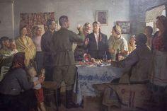 "1949. Михаил Иванович Лихачев (4.10.1919 - 13.2.1997г.). ""Тост за героиню труда"""