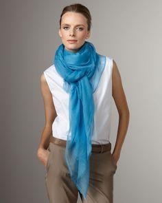 Loro Piana Lightweight Cashmere Stole, Blue
