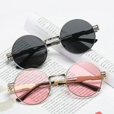 d31661d5fd0 NewChic - NewChic Women Vintage Round UV400 Protection Sunglasses Causal  Steam Punk Round Eyeglasses - AdoreWe.com