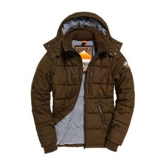 Superdry Bluestone Jacket ($100) ❤ liked on Polyvore featuring men's fashion, men's clothing, men's outerwear, men's jackets, green, mens jackets, mens fleece lined jacket, mens zip up jackets, mens quilted jacket and mens green jacket