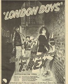 February 20th 1976  London Boys / Solid Baby (EMI T.Rex MARC 13)  Enters the UK charts at number 40 its highest position.
