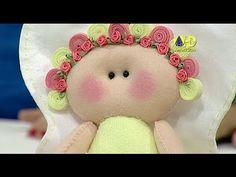 Sabor de Vida Artesanatos | Anjinha Floral por Juliana Viegas - 25 de Maio de 2014 - YouTube