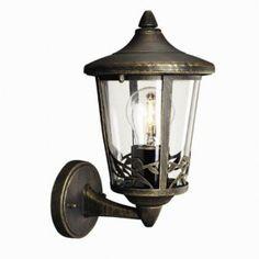 Massive Chartres 153904210 zwart / goud wandlamp buiten