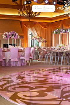 LAVISH WEDDING RECEPTIONS   Lavish Pink Wedding Reception Table Decoration