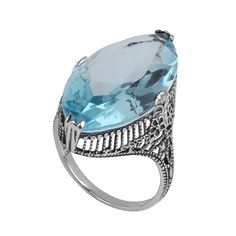 Szjinao Antique Jewelry Wholesale 925 Sterling Silver Jewelry Blue Stone Women Accessories Wholesale China