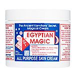 Egyptian Magic All Purpose Skin Cream. Olive Oil, Beeswax, Honey, Propolis, Bee Pollen, Royal Jelly.  On my WANT list. Cheesy looking packaging, but got fantastic reviews.