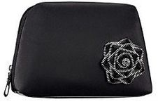 """Lancome Black w/Black Flower Cosmetic Bag by Lancome. $4.49. ~Lancome Black Cosmetic Bag with Black Flower on Front ~Top Zippered Closure ~~Bag Dimensions:  9"""" x 5"""" x 2"""" at base ~Great for Purse, Car or Travel!. ~Lancome Black Cosmetic Bag with Black Flower on Front ~Top Zippered Closure ~~Bag Dimensions:  9"""" x 5"""" x 2"""" at base ~Great for Purse, Car or Travel!"""