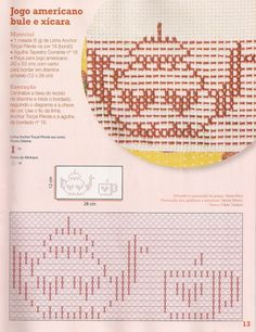 Fabinha Graphics For Embroidery: Point Oitinho Cross Patterns, Vintage Patterns, Embroidery Patterns, Crochet Patterns, Stitch Patterns, Cross Stitch Embroidery, Hand Embroidery, Swedish Weaving Patterns, Monks Cloth