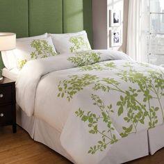 Mercury Row Arrellano Duvet Cover Set Size: Twin, Color: Leaf