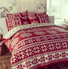 Gorgeous fair isle Christmas bedding