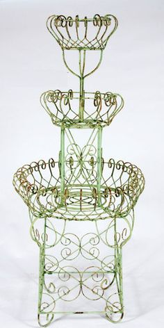 Wrought Iron 3 Tiered Fountain Planter Metal Flower Holder for Your Garden | eBay