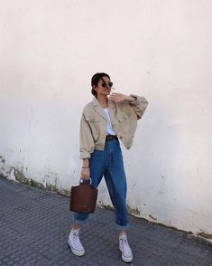 Outfit Main Inspo Page ⋆ Best Frugal Deal & Steals on – Woman's Fashion Inspo Cute Casual Outfits, Retro Outfits, Vintage Outfits, Preppy Dresses, Hijab Casual, Edgy Outfits, Look Fashion, 90s Fashion, Korean Fashion