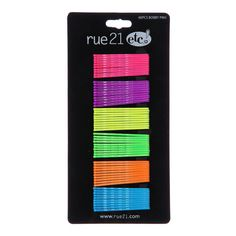 rue21 Neon Bobby Pins ❤ liked on Polyvore featuring accessories, hair accessories, hair stuff, hair, fillers, women, neon hair accessories and bobby hair pins