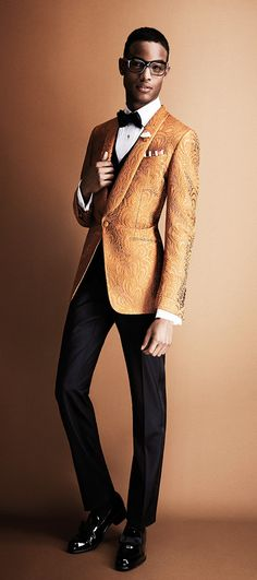 Orange Men's Suit by Tom Ford. High-End Men's Fashion, Luxury Lifestyle, Health, Sports, Gadgets, Design, Fashion Trends, Outfits, Designers, Latest Fashion Looks, Men's Accessories, Style Blog, Fashion Blog, Men's Wear, Designer Clothing. http://whatiwouldbuy.com/MENS+WINTER+SUITS+AND+BLAZERS