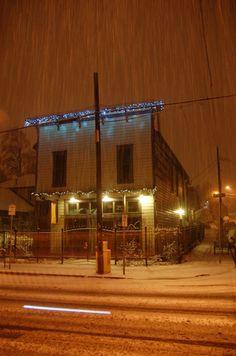 Portland Coffee Shop in the Rain (OCR)