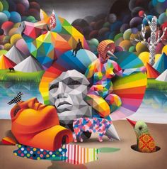 Supporting artists and cultural visionaries around the globe. Art Pictures, Art Images, Okuda, Cool Paintings, Cool Art, Graffiti, Street Art, Champion, Europe