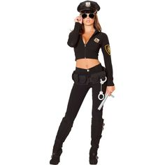 Women's Miss Law and Order Costume ($89) found on Polyvore featuring costumes, halloween costumes, police woman costume, sexy women costumes, sexy police officer costume, sexy halloween costumes and womens costumes Easy Girl Halloween Costumes, Halloween Outfits For Women, Sexy Costumes For Women, Trendy Halloween, Girl Costumes, Police Officer Halloween, Police Officer Costume, Cop Costume, Corduroy