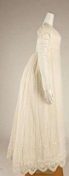 Dress ca.1814 French cotton, silk Metropolitan Museum