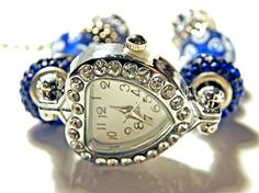 This is a great product - the add-a-bead watch - and it's awesome!!! Now you can show off your european bead collection by slipping them onto this gorgeous watch! How cool is that?! It has such a clev