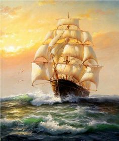 The All Inclusive Luxury Motor Yacht Charter Bateau Pirate, Old Sailing Ships, Baroque Painting, Ship Paintings, Nautical Art, Motor Yacht, Ship Art, Tall Ships, Painting & Drawing