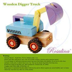 Wooden Digger Truck TL92004A