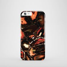 """Lava"" / feature with Supreme black & red marble stone printed iPhone cover. #marble #case #paletto #lava"