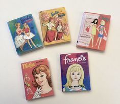 I've just added some new 1:6 scale Barbie books. If you've ordered my Barbie books before and just want the new covers, send me a note with your order asking for the new books. Please note: Books d… Book Title, Fashion Dolls, New Books, Barbie Dolls, Hand Sewing, Diorama Ideas, Doll Dresses, Chic, Cover