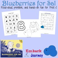 Blueberries for Sal: A read-aloud, a new printables, and fun hands-on activities!   embarkonthejourney.com