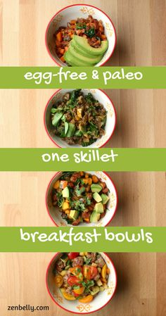 egg-free & paleo breakfast bowls | zenbelly