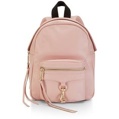 Rebecca Minkoff Mini M.A.B. Backpack (260 BAM) ❤ liked on Polyvore featuring bags, backpacks, mini bags, daypack bag, pink backpack, day pack backpack and pink mini backpack