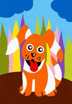 Album: Gli animali di casa - Disegno: Il cagnolino