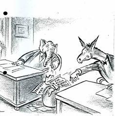 1963 political cartoon- Civil rights bill