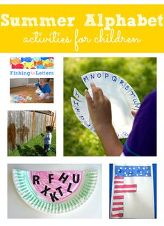 summer alphabet activities for kids - Pinned by @PediaStaff – Please Visit  ht.ly/63sNt for all our pediatric therapy pins