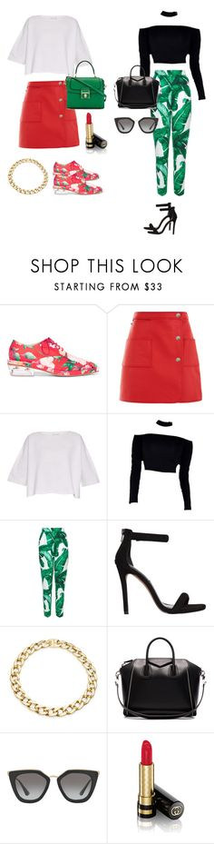 """Day and night baddy"" by alexa-haddad ❤ liked on Polyvore featuring Simone Rocha, Courrèges, Helmut Lang, Dolce&Gabbana, Steve Madden, Karen Kane, Givenchy, Prada and Gucci"