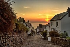 "Beautiful Clovelly, North Devon, UK as shown in Simon Jenkins's new book ""England's 100 Best Views"". c/o South West Coast Path."