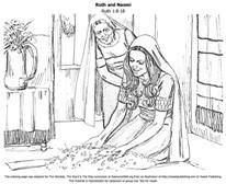 ruth and naomi free bible colouring page for kids - Ruth And Naomi Coloring Pages