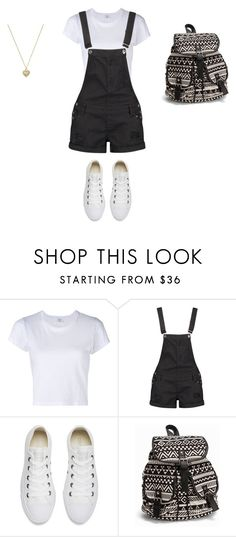 Untitled #4 by beata-apanasewicz on Polyvore featuring RE/DONE, Boohoo, Converse, NLY Accessories and Michael Kors