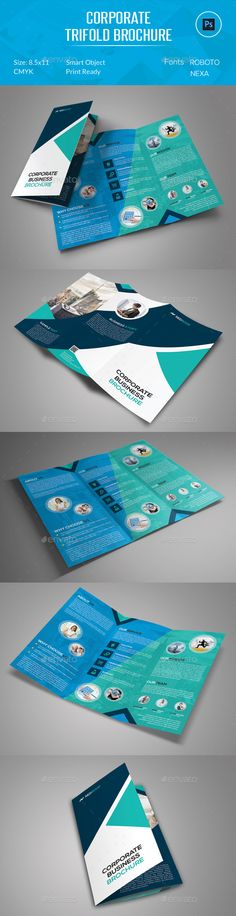 Corporate Trifold Brochure Template #design #printdesign Download: http://graphicriver.net/item/corporate-trifold-brochure/12124431?ref=ksioks