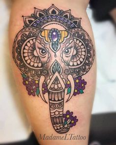 28 Ideas Tattoo Elephant Mandala Style For 2019 Thigh Tattoo Men, Girl Thigh Tattoos, Foot Tattoos, Forearm Tattoos, Sleeve Tattoos, Tatoos, Trendy Tattoos, Tattoos For Guys, Mandala Elephant
