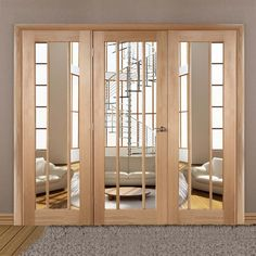 Easi-Frame Oak Door Set, GOWOR-COEOP29, 2005mm Height, 2442mm Wide. #glazeddoor #internalworcesterdoor #oakdoor