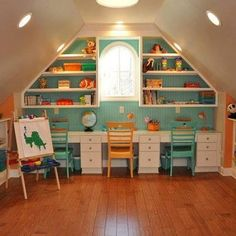 Kids homework craft area on pinterest homework area playrooms and kids study - Craft area for small spaces property ...