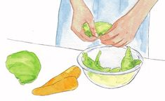 Why Japanese Home Cooking Makes Healthy Feel EffortlessThe key is in the two-vegetable side dish Okazu Recipe, Japanese Side Dish, Grilled Cabbage, Kinds Of Vegetables, Cooking Dishes, Japanese House, Vegetable Side Dishes, Just The Way