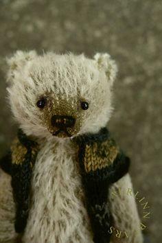 Robbie One Of A Kind Miniature Mohair Artist Teddy by aerlinnbears