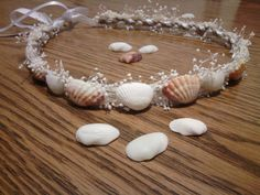 sea shell crown shell Headband beach wedding by dieselboutique