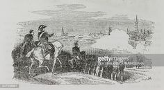 Marshal Jean Lannes in front of Vienna May 1809 Napoleonic Wars illustration from the first Italian edition of The Memorial of Saint Helena Volume 2...