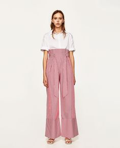 49.90 STRIPED PALAZZO TROUSERS from Zara