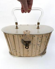 Vintage Purse Lucite Purse Basket Weave Rare Collectable | Etsy